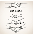 handshake on white vector image vector image