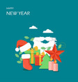 happy new year flat style design vector image vector image