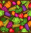 harvest seamless pattern autumn vector image