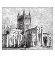 hereford cathedral vintage vector image vector image