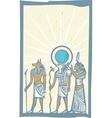 Hieroglyph Sun Rays vector image vector image
