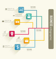 infographic workflow concept vector image vector image