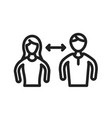 interpersonal relationships vector image vector image