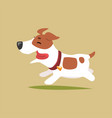 jack russell puppy character running cute funny vector image vector image