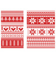 knitted ornament red vector image vector image