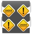 left and right side signs - under construction vector image vector image
