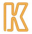 letter k bread icon cartoon style vector image