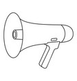 line art black and white megaphone vector image vector image