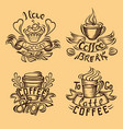 making coffee design isolated vector image vector image