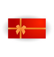 merry christmas and happy new year red gift vector image vector image