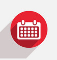 modern calendar red circle icon vector image