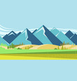 mountain landscape with summer fields vector image