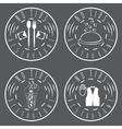 no tips restaurant vintage labels set vector image