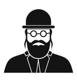 Orthodox jew icon simple style vector image