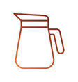plastic pitcher with handle isolated on white vector image