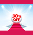 podium 30 off vector image vector image