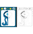 preschool worksheet vector image vector image