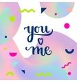 Romantic Typographic poster vector image vector image