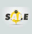 round yellow banner with black text for big sale vector image