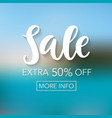 sale mobile banner template vector image vector image