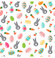 seamless simple pattern with ornamental eggs and vector image vector image
