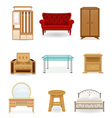 set icons furniture 03 vector image vector image
