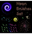 set neon brushes vector image vector image