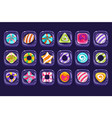 set of colorful candies inside transparent vector image vector image