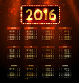 shiny 2016 calender vector image vector image