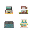shop store buildings set vector image
