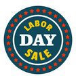special sale labor day logo icon flat style vector image vector image