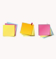 stack of color stickers vector image vector image