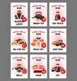 sushi menu card for japanese cuisine restaurant vector image vector image