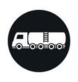 tanker truck model transport vehicle block and vector image vector image