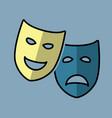 theatrical drama and comedy masks vector image vector image