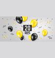 twenty days left icon 20 days to go vector image vector image