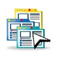website platform related with internet vector image vector image