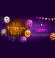 welcome banner for happy halloween party vector image vector image