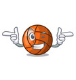 wink volleyball character cartoon style vector image vector image