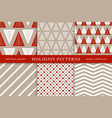 winter holidays seamless patterns vector image vector image