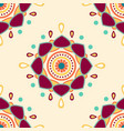 abstract mandala background pattern vector image vector image