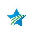 abstract star arrow logo image