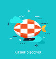 airship discover concept vector image vector image
