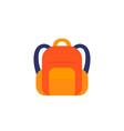 backpack icon on white vector image