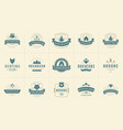 camping logos and badges templates design vector image vector image