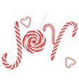 Candy Joy Word2 vector image vector image
