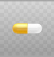 capsule pill painkiller vitamin drug icon vector image