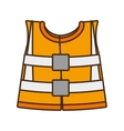 cartoon reflective vest safety work design vector image