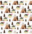 childrens seamless pattern in scandinavian style vector image vector image