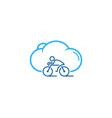 cloud bike logo icon design vector image vector image
